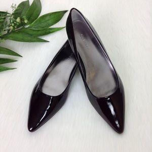 Calvin Klein NYSA Dark Merlot Patent Leather Flats